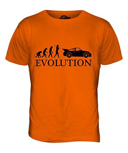 CandyMix Sportswagen Evolution Des Menschen Herren T Shirt Orange