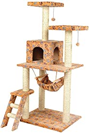 Mumoo Bear Cat Climbing Frame Sisal Grinding Claw, Orange