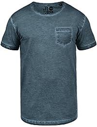 SOLID Terick Herren Oversize Shirt T-Shirt Rundhals mit Brusttasche Longline