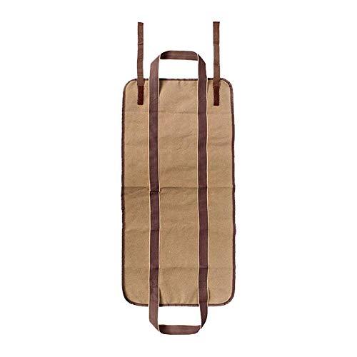 True-Ying Holz-Aufbewahrungstasche für Kaminholz, tragbar, strapazierfähig, langlebig, für den Innenbereich, Kamin, Kaminholz mit Griffen Khaki -