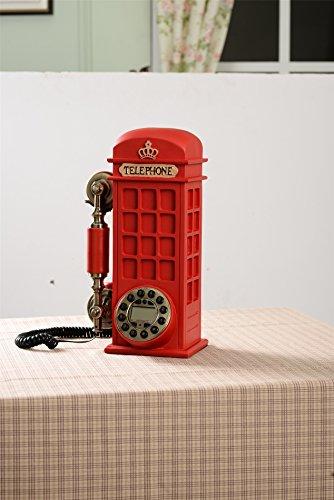 Altmodisches telefon schnurgebunden retro jahrgang antique style vintage-inspirierte festnetz zuhause leben zimmer dekor dekorativ-Telefonzelle Stil
