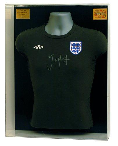 Joe Hart Hand signiert England Torwart Trikot Präsentation (lot748)