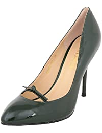 Vincenzio Robertina Women's Black Leather Pumps