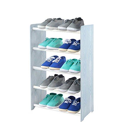 Schuhregal Schuhschrank Schuhe Schuhständer RBS-5-45 (Seiten hellgrau, Stangen in der Farbe weiß)