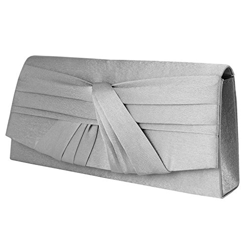 Clutch , Evening Bag Satin / Mod. 2084 by fashion-formel Grigio