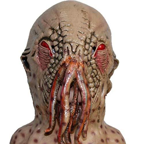Kostüm Ekel Kind - Lixinfushi Unheimlich Latex Octopus Maske Schrecklichen Ekel Halloween Maske Karneval Cosplay Party Prop