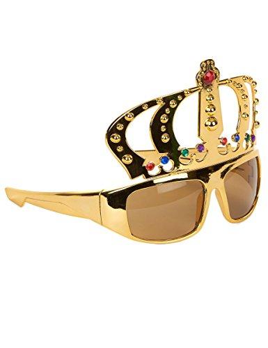 Brille König Krone - Tolles Accessoire für Junggesellenabschied oder Mottoparty (Krone König)