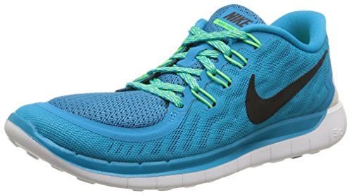 Nike Wmns Free 5.0, Chaussures de Sport Homme Turquoise (blue Lagoon/black/voltage Green/cp)
