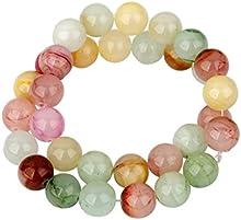 12 Mm / 35pcs Espaciador De Jade De La Piedra Preciosa Redonda Suelta Perlas De Collar De La Pulsera DIY