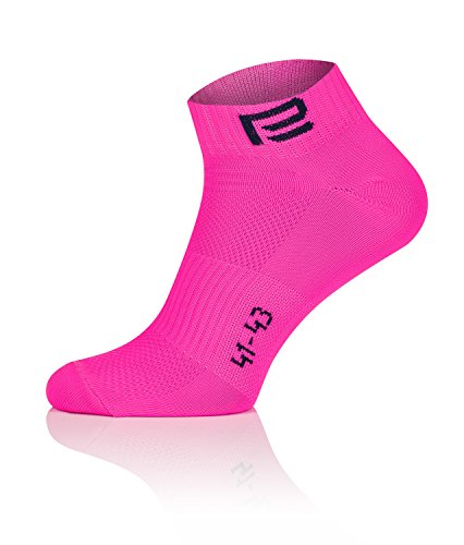Prosske LF de 2calcetines calcetines de deporte calcetines Cilindro de calcetines transpirable mujer hombre Niños muchos colores, color Rosa, tamaño 44-46