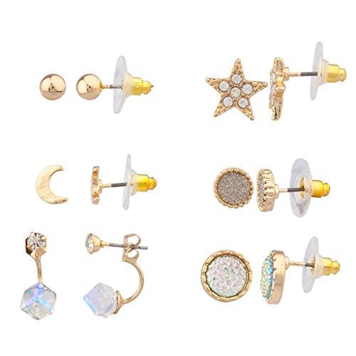 lux-accessoires-veritable-aux-nuances-dorees-twinkle-star-multi-boucles-doreille-lot-de-6