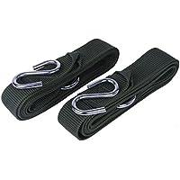 Gearmax® New resistente vendaje de árbol de hamaca correas cinturón sling correa para el cuello correas de sujeción con gancho cuerda(Verde)