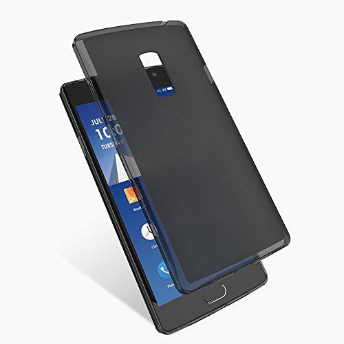 Hülle für OnePlus 2 Dünn Schutzhülle Federleicht Matte Lichtdurchlässig Handyhülle Schwarz