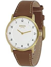 Boccia Damen-Armbanduhr Analog Quarz Leder 3254-02
