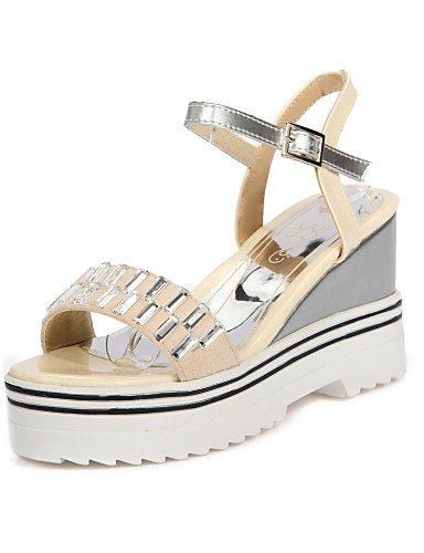 UWSZZ IL Sandali eleganti comfort Scarpe Donna-Sandali-Casual-Zeppe-Zeppa-Finta pelle-Nero / Blu / Viola / Rosso / Beige beige