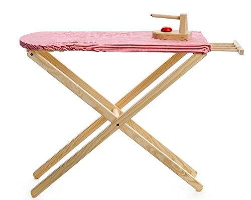 Egmont Toys Kinder-Bügelbrett und Bügeleisen, rot/weiß Gepunkteter Bezug, 71 cm