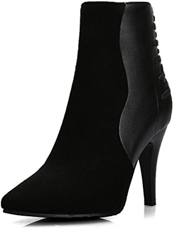 H HQuattro stagioni femmina nera ben indicata da con cuoio cucito scarpe da indicata donna in tacco alto con scarpe in gomma... Parent c9f37c