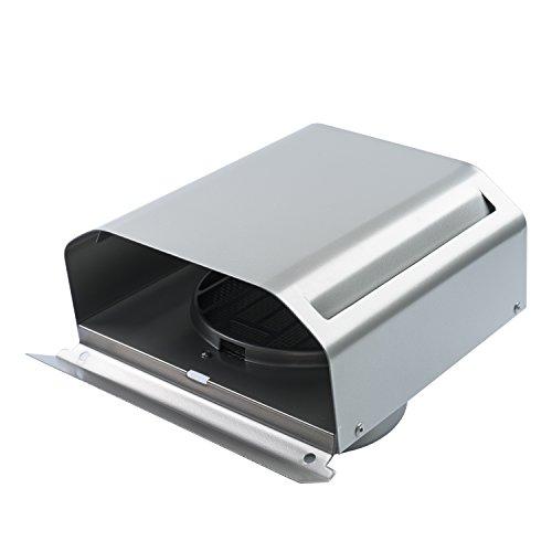Hon&Guan ø100mm Cappa Aerazione Ventilazione in Acciaio Inox con Griglia
