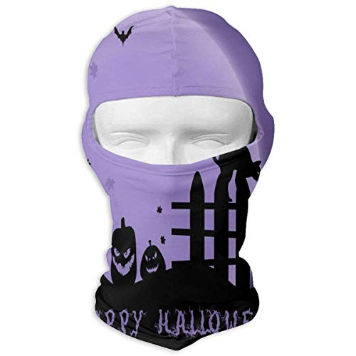 Balaclava Happy Halloween Purple Night Full Face Masks Ski Sports Cap Motorcycle Hood For Cycling Sports Snowboard