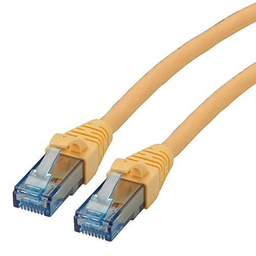 ROLINE UTP LAN Kabel Cat 6A Component Level LSOH| Ethernet Netzwerkkabel mit RJ45 Stecker | gelb 1,5 m