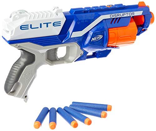 Nerf N-Strike Elite Disruptor - Armas de Juguete (Pistola de Juguete, 8 año(s), Niño, Azul, Gris, Naranja, Blanco, N-Strike, 27 m)