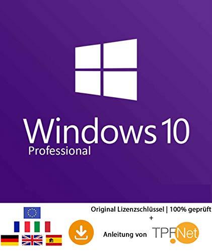 MS Windows 10 Pro 32 bit & 64 bit Vollversion Original Lizenzschlüssel per Post und E-Mail + Anleitung von TPFNet® Versand maximal 60Min