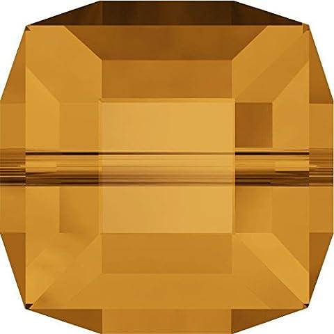 Swarovski Cristallo Cubo Perline, Topaz, 6mm - Pack of 144 (W/S)
