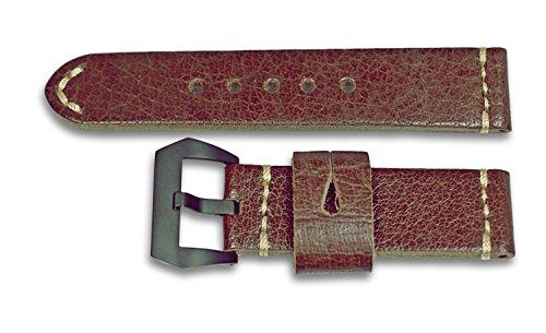 24mm Uhrenarmband NEW JERSEY Modell 4695 Handgearbeitetes Lederarmband PAM-Style Rindslederarmband für Panerai,PARNIS...