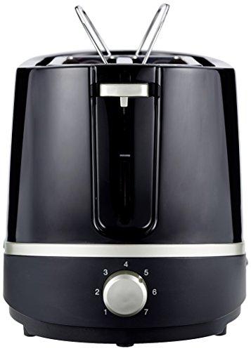 AmazonBasics Doppelschlitz-Toaster, Leistung: 800 W, Schwarz -