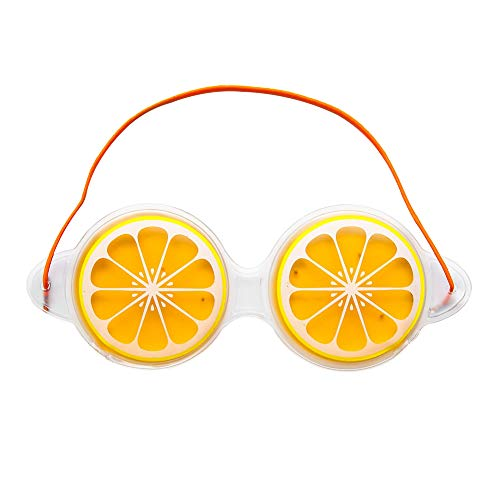 Scrox Augenmaske für Schlaflosigkeit und Augenmaske 19 x 7 cm, Orange, 19cm*7cm -