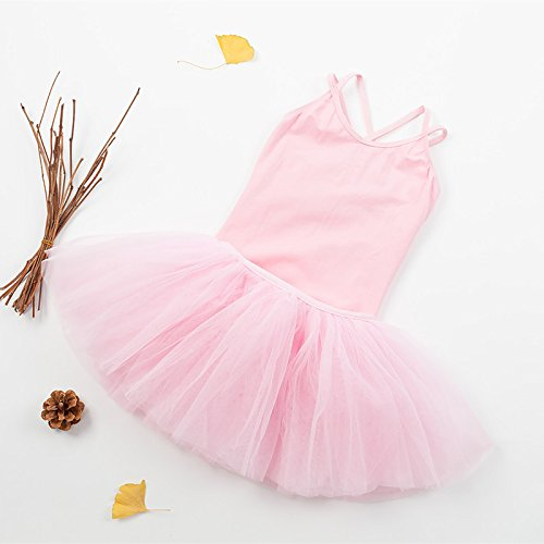 Kostüm Big Baby Tanzen (Kind tanzen Trainieren Garnrock Ballett Show Mädchen Kleidung , pink ,)