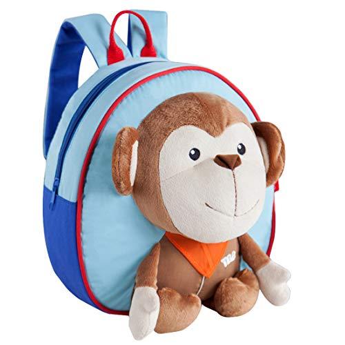 GWELL Süß 3D Tier Babyrucksack Kindergartenrucksack Backpack Schultasche Kleinkind Kinder Mädchen Jungen AFFE-blau