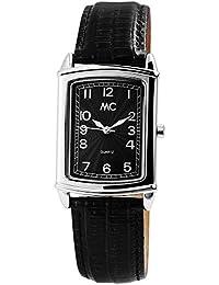 MC Timetrend Germany - Reloj de Pulsera analógico para Hombre, Acero Inoxidable, Correa de