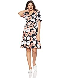 United Colors of Benetton Women's Wrap Knee-Long Dress