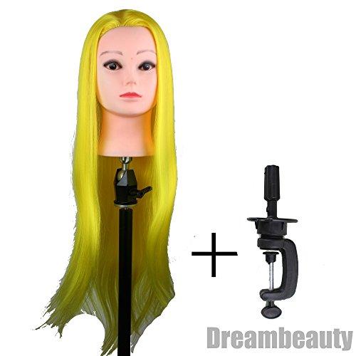 eseewigs coloré cheveux synthétiques Tête Mannequin pour cheveux style et de coupe 9 couleurs 71,1 cm