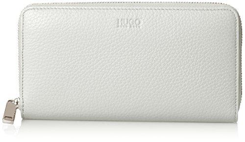 HUGO Damen Mayfair Zip Around Geldbörse, Weiß (White), 1.5x10x19 cm