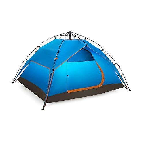 Jian E Zeltcamping Camping Outdoor Automatische Geschwindigkeit Park Big Space Windproof 3-4 Personen 210x180 cm (Farbe : Blau)