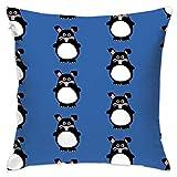 Cute Rabbit Flannel Decorative Square Pillow Cushion Cover Sofa Home Decor Modern 18 X 18 inch(45 X 45 cm