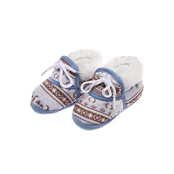 shihao159 Baby Socks Shoes,Keep Warm Slippery Soft bottom Cotton Fabrics Baby's First Step Baby Socks(blue) 1