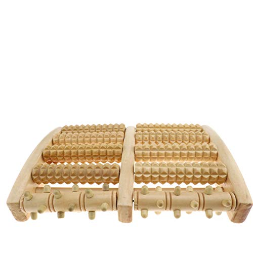 D2D Fußmassagerollen, Holz, Reflexzonenmassage, Akupressur-Roller, Fuß-Spa, Stressabbau, Massagegerät, Gesundheitsgeschenk