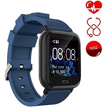 Ayete Smartwatch Fitness Tracker con frecuencia cardíaca Monitoreo de la presión Arterial Salud Deporte Reloj Impermeable IP67 Reloj de Pulsera Cámara ...