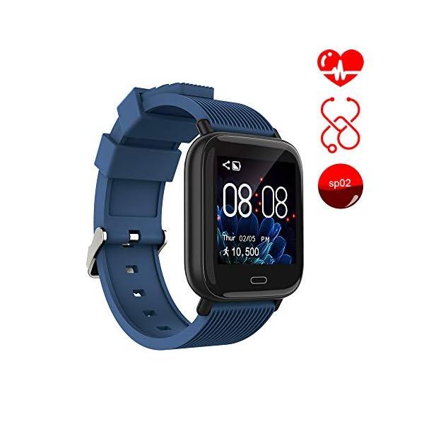 Ayete Smartwatch Fitness Tracker con frecuencia cardíaca Monitoreo de la presión Arterial Salud Deporte Reloj… 1