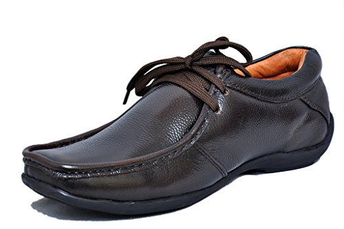 Zoom Men'S Brown Pure Leather Formal Shoes D-2571-Brown-8