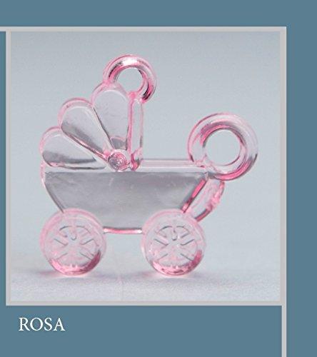 Lot 50 pièces, Bonbonnière application Graphite en plastique, dimension cm 3 x 3, pour marque-place, composition Confetti. (ck6111) rose