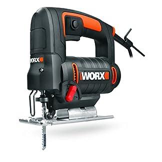 Worx WX477.1 Sierra de Calar Pendular, 550 W Capacidad Madera 65mm, Aluminio 12mm, Acero 6mm, Incluye 3 Cuchillas de Corte y un maletín, 230 V
