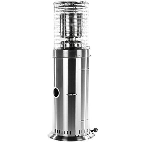 Ultranatura Edelstahl Gas-Heizstrahler GH-12 - Terrassenheizung regelbar bis 12 KW;