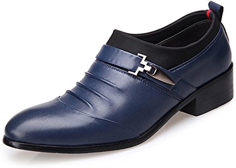MXNET Männer Business Schuhe  Matte PU Leder Splice Oberen Slip on Atmungsaktiv Ausgekleidet Oxfords