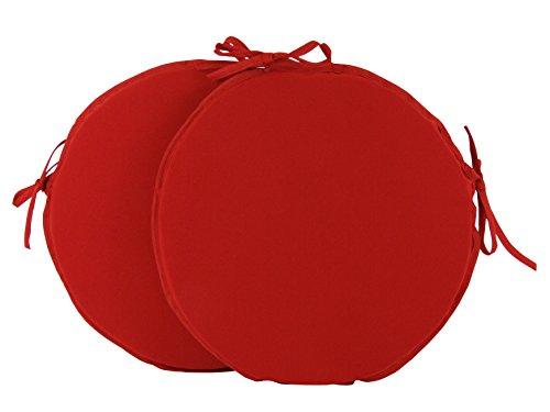 Set di 2 sedie/35,56 (14 cm rotondo, cuscini per sedie, basta colore: rosso