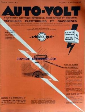 AUTO VOLT [No 166] du 01/10/1945 - EQUIPEMENT ELECTRIQUE AUTOMOBILE - AERONAUTIQUE - AGRICOLE ET INDUSTRIEL