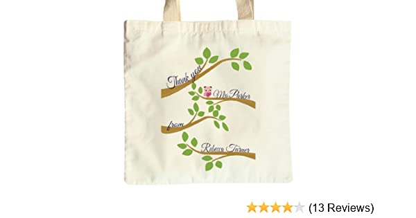 Thank you Owl Tree Personalised Teacher Gift Tote Bag